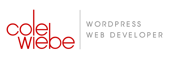 Cole Wiebe, WordPress Website Design/Development