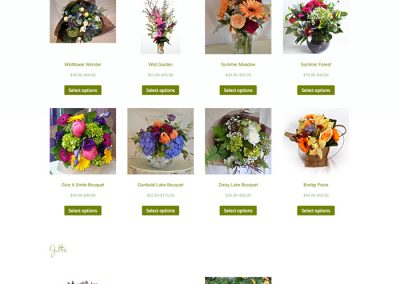 Shop Flowers page