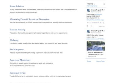 Commercial Management Services page