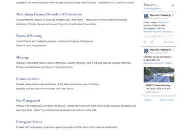 Strata Management Services page