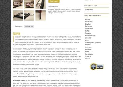 Example product page, with video review