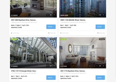 Downtown Vancouver sub-site Listings page