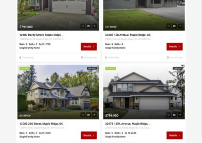 Maple Ridge sub-site property listings